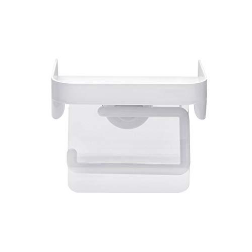 FOTGL Soporte para Papel higiénico para Cocina Papel higiénico para baño Rack de Almacenamiento Montado en la Pared Soporte para Papel higiénico, Blanco