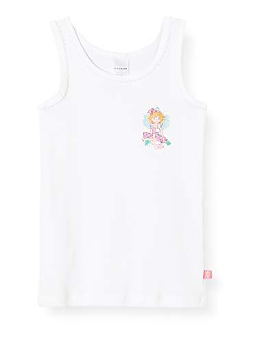 Schiesser Mädchen Prinzessin Lillifee Hemd 0/0 Unterhemd, Weiß (Weiss 100), 92 (Herstellergröße: 092)