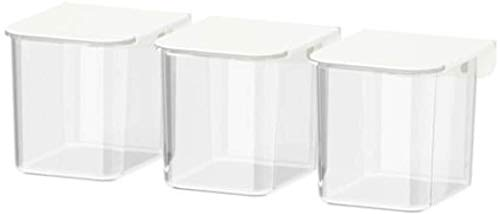 IKEA Skadis Behälter mit Deckel weiß / 3er Pack 803.359.09