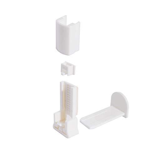 ourdeco® Zubehör/Set Ersatzklemmträger Plissee Ausbrenner weiß/lichtdurchlässig/Klemmen=Montage ohne Bohren=Smartfix=Klemmfix-Plissee=Easy-to-fix