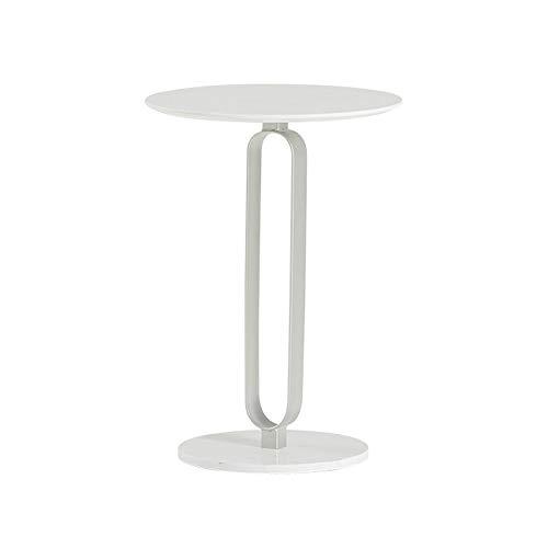 Tische GQIANG Schmiedeeisen Marmor Beistelltisch Couchtisch Sofaecke, Hohe Temperaturbeständigkeit, Leicht Zu Reinigen (Color : Silver)