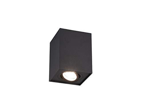 Trio - Faro da soffitto con LED e faretto orientabile, Colore: Nero Opaco