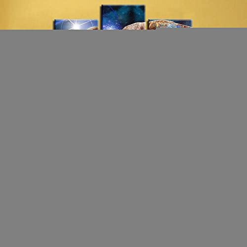 5 Piezas Cuadro Sobre Lienzo De Fotos Elefante Astronomía Planetas Resumen Lienzo Impresión Cuadros Decoracion Salon Grandes Cuadros Para Dormitorios Modernos Mural Pared 5 Partes Carteles Regalo