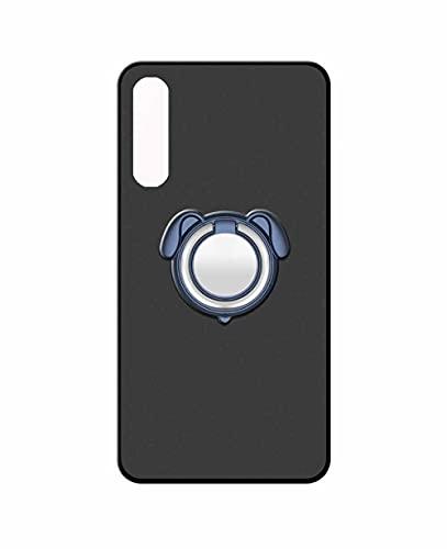 Sunrive Funda Compatible con Sony Xperia 10 III, Silicona Mate Gel Carcasa Case Bumper Anti-Arañazos Espalda Cover Anillo Kickstand 360 Grados Giratorio(Colorear Azul) + 1 x Lápiz óptico