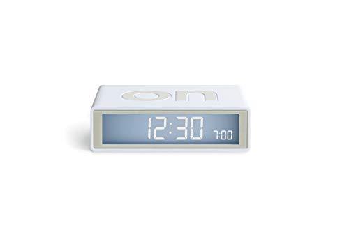 Lexon Flip Plus Travel Reversible LCD Alarm Clock Radio Controlled - White