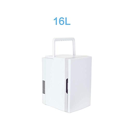 Mini koelkast 12v 220v, Electric Cooler en warmer for in de auto en huis Handle draagbare auto koelkast, met 12V DC 220V AC 10L16L (Kleur: 10L-WIT) LOLDF1 (Color : 16lwhite)