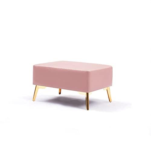 Otomana Luz de Lujo en el Extremo de Cama Taburete Banco de Cuero Simple Sofá Sofá Sofa Soportes sobre LA Tienda DE Ropa DE RESPAÑA Moderna CUADO DE Cubiertos Taburete (Color : Pink)
