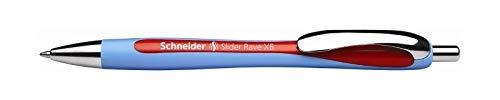Schneider Schreibgeräte Kugelschreiber Slider Rave, Druckmechanik, XB, Blau-Rot, 1 Stück