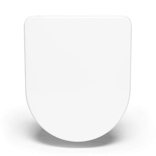 Bullseat® 3 WC Sitz weiß • passend zu Duravit Starck 2/3 • Absenkautomatik/Softclose • abnehmbar • click n' clean • Toilettendeckel überlappend • Klobrille • hochwertiges Duroplast