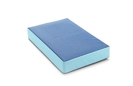 traturio Hüpfmatratze Indoor/Outdoor in tollen Farben für alle kleinen Hüpfer 107x70x17 cm (Outdoor blau/eisblau, 107)