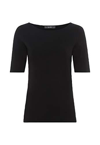 HALLHUBER T-Shirt aus Bio-Baumwolle und Lenzing Modal™ leicht tailliert schwarz, L