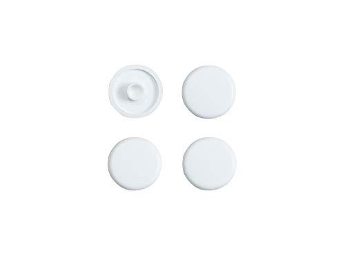 SITZPLATZ® WC-Sitz-Puffer Nr. 43 | Auflagestopfen für Toilettensitz | Abstandhalter für WC-Brille | Dämpfer | Weiß | Kunststoff