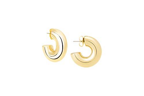 High Polished Small Hoop Earrings by Janis By Janis Savitt