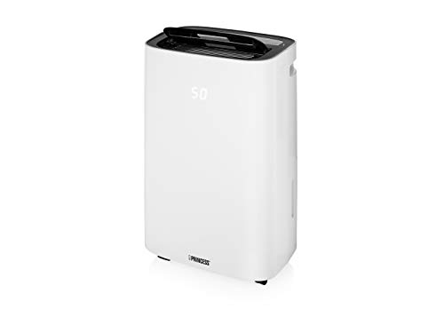 Princess Smarter Luftentfeuchter (App gesteuert, 30 Liter/ Tag, nur 42 dB Lautstärke, mit Timer-Funktion, auf Schwenkrädern) 353130
