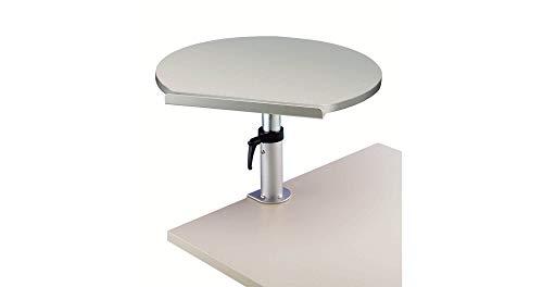 Maul 9301182 Ergonomisches Tischpult, Tragkraft 30 kg, Höhenverstellbar, Neigbar, Platte 60x51x2,2 cm (BxTxH), Grau, 1 Stück
