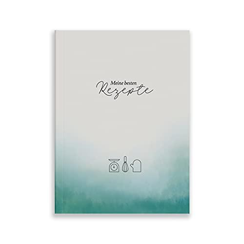 heaven+paper Rezeptbuch A5 zum Selberschreiben Softcover - Rezeptheft mit Verzeichnis für deine Lieblingsrezepte - Kochbuch mit Saisonkalender auf festem Naturpapier