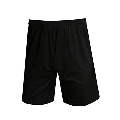 Short d'entraînement de sport respirant à séchage rapide léger taille élastique pour homme Short de sport pour course à pied, basket-ball, football, Noir , S