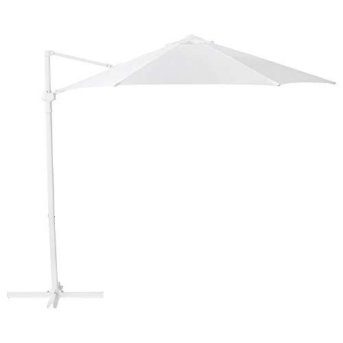 My Stylo Collection Sonnenschirm zum Aufhängen, Weiß, Größe zusammengebautes Gewicht 170 g/m2, Höhe 239 cm, Durchmesser 270 cm