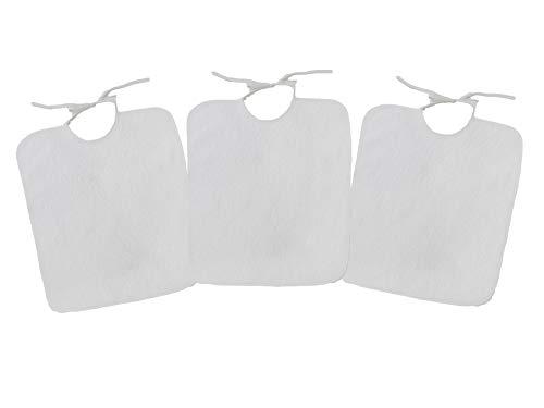 Ti TIN - Conjunto de 3 Baberos, Color Blancos