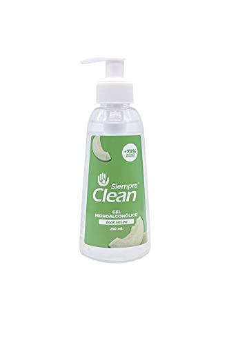 SiempreClean Gel Hidroalcohólico con Dosificador, Gel Higienizante Suave con la Piel, 73% de Alcohol Etílico, Perfume Melón, 250 ml