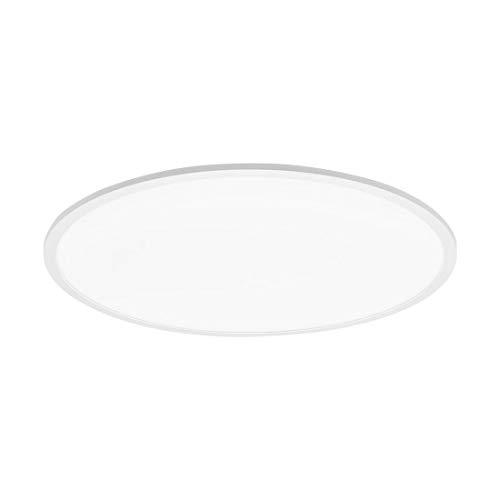 Lámpara LED de techo Sarsina, color blanco, diámetro de 80 cm, altura de 5 cm, intensidad regulable, incluye marco flotante