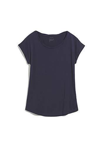ARMEDANGELS Laale - Damen T-Shirt aus Bio-Baumwolle M Navy Shirts T-Shirt Rundhals Regular fit