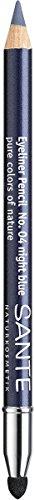 SANTE Naturkosmetik Kajal Eyeliner No. 04 night blue, Kajalstift, Farbintensive cremige Textur,...