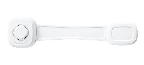 Safety 1St Blocca Ante Multifunzione per Ante Elettrodomestici, con Adesivo, Flessibile, Bianco