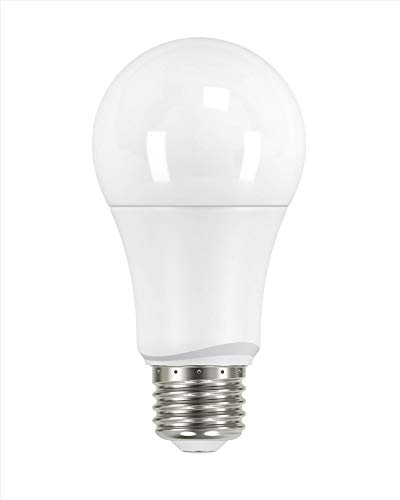 Satco S2959 Model 9.5A19/LED/27K/ND/120V/4PK Solid State LED Bulb, 120 Volts, 9.5 Watt, 800 Lumens, A19 Shaped, Frosted, 2700 Kelvin Temp, Medium Base, 220 Spread Degrees, Non-dimmable, Pack of 4