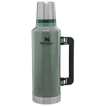 Stanley The Legendary Classic Vacuum Bottle 1.9L Hammertone Green 18/8 Stainless Steel Double-Wall Vacuum Insulation Water Bottle Leakproof+Packable Doubles As Cup Dishwasher Safe Naturally Bpa-Free