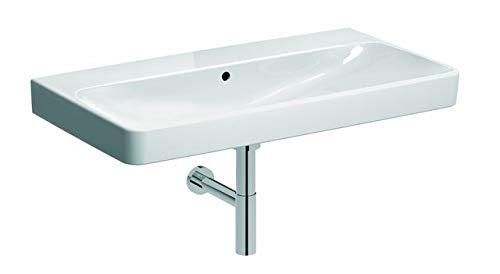 Geberit Smyle Square Waschtisch 500250, 90x48cm, ohne Hahnloch, mit Überlauf, Farbe: Weiß, mit KeraTect