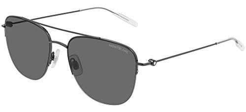 Mont Blanc Hombre gafas de sol MB0096S, 001, 56