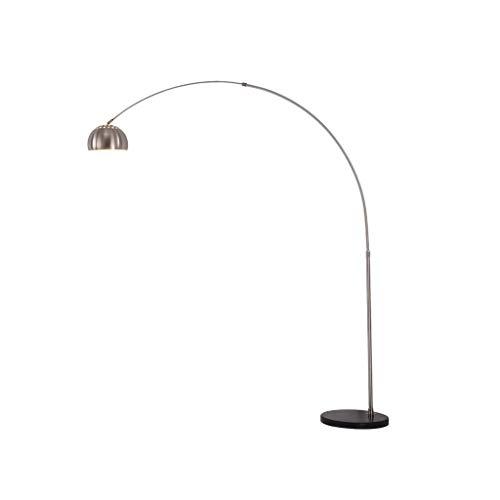 YLSH duurzame staande lamp met verstelbare arm, perzik verticaal, staande lamp, hardware geplateerd, lampenkap voor slaapkamer, woonkamer, creatieve led-vloerlamp