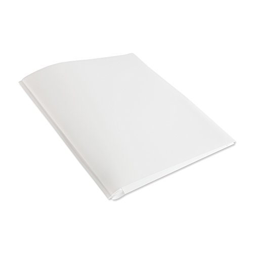 COMIX 2 Pocket Letter Size Poly File Plastics Folders with 3-Prong Fastners - 12 Packs (White)