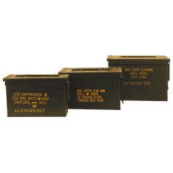 U.S. Military 30 Cal, 50 Cal, and Fat 50 Cal Ammo Cans Grade 1