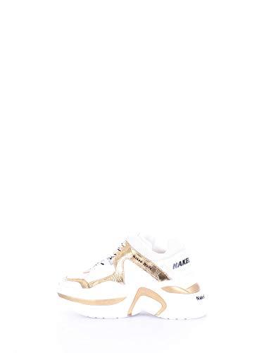 NAKED WOLFE Sneaker Track Gold Croco Taglia 40 - Colore ORO/Bianco