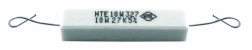 NTE Electronics 10W1D0 Resistor, Wire Wound, Axial Leaded, 5% Tolerance, 1 Ohm Resistance, 10W, 550V (Pack of 2)
