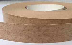 Rollo de cinta adhesiva de melamina, ideal para armarios de cocina o baño, 10 m x 18 mm, madera de haya clara.