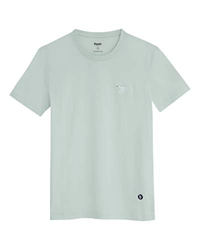 Brava Fabrics - Camiseta Hombre - Camiseta para Hombre - 100% Algodón Orgánico - Modelo Japanese Sky