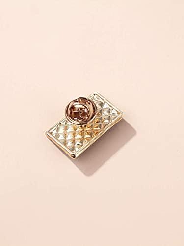 Brooche Pines para Mujer- Faux Perla decoración Bolsa de diseño Broche -Wedding cumpleaños Navidad Broche (Color : Black, Size : OneSize)