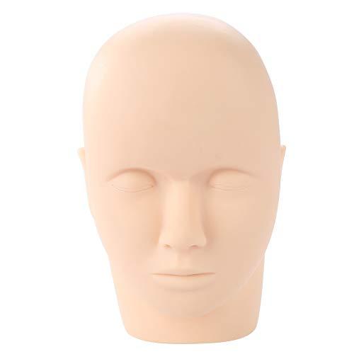 Tête de mannequin de maquillage en caoutchouc souple permanent pour entraînement professionnel de la cosmétologie, poupée, lèvres, sourcils, cils, tatouage, faux pratique de la peau