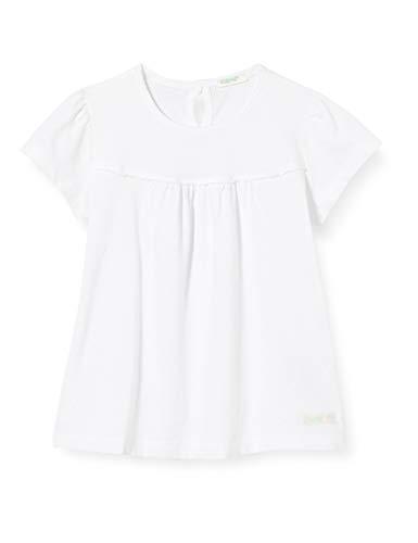 United Colors of Benetton T-Shirt Camiseta de Tirantes, Blanco (Bianco 101), 68 para Bebés