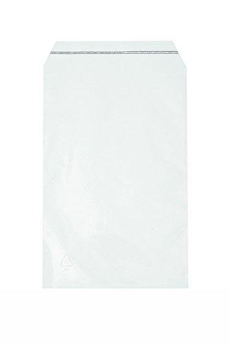 Klappenbeutel 130x185+30mm Klarsichtbeutel mit Klebestreifen Schutzhüllen