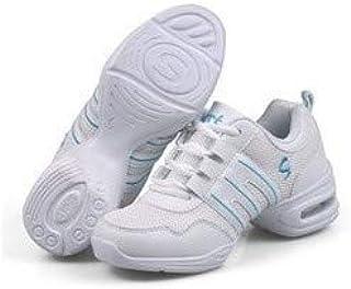 الأحذية الكاجوال Soft Bottom Mesh Breathable Modern Dance Shoes Heightening Shoes for Women, Shoe Size:36(Red) الأحذية الكاجوال
