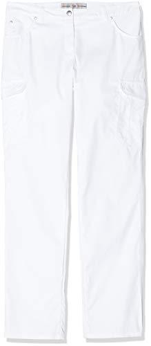 BP 1642-686 dames jeans gemengde stof met stretch wit, maat 42 l