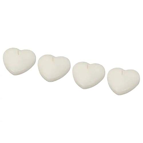 Unscented Floating Candle, Heart-Shaped Natural +(Pen Free)