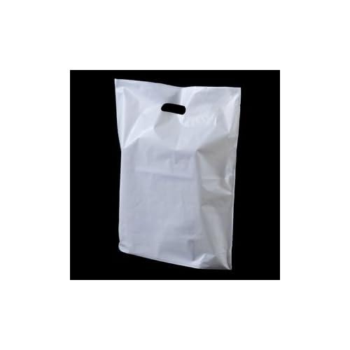 "100 White Plain Carrier Bags 10/"" x 15/"" x 18/"" ! CHEAPEST ON  !!"