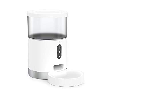 JINDINGペットフィーダーペットカメラ自動給餌器猫犬留守番4L大容量Alexa/GoogleHome対応