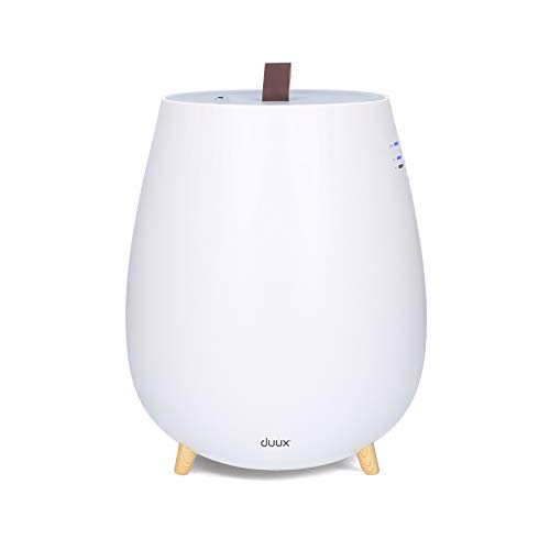 Duux Tag Humidificador ultrasónico para respirar aire limpio, Humidificador de aire para sentirte bien, Humidificador de casa, 2.5L habitaciones de hasta 30 m² (Blanco)