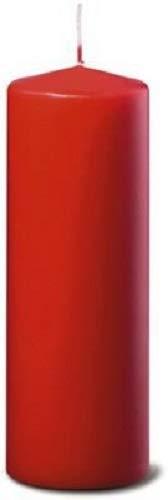 Bolsius Stumpenkerze, für Innen- und Außenbereich, 200 x 68 mm, rot